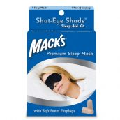 Mack's Shut-Eye Shade - Sleep Aid Kit with Soft Foam Earplugs